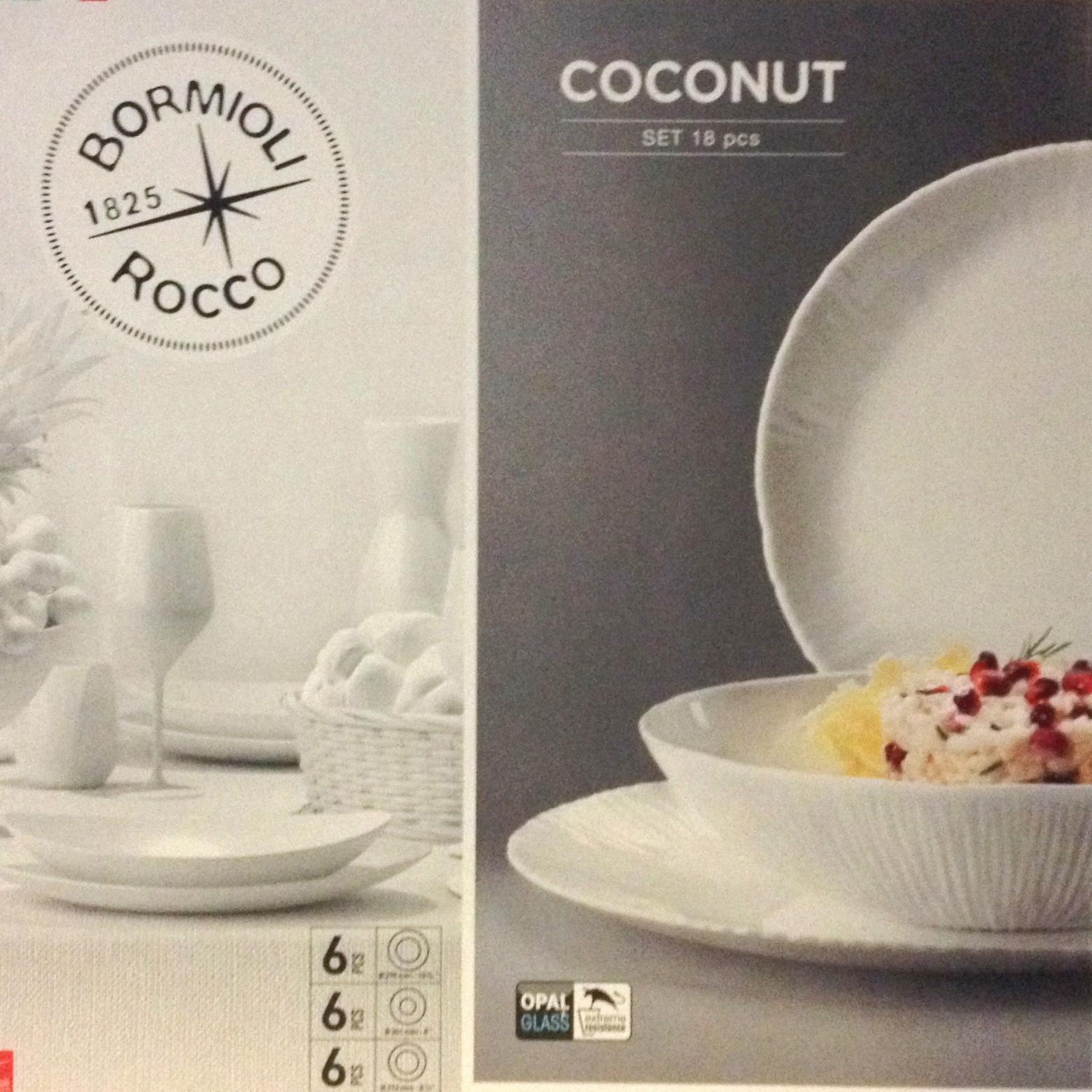 44b38ae993 Coconut 18 darabos Bormioli étkészlet - Főzz Könnyen! Konyha webáruház