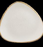 Barley White háromszög lapos kerámia tányér 31,1 cm