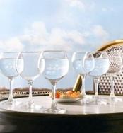 French Brass fehér boros pohár