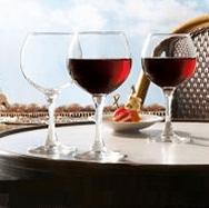 French Brass vörös boros pohár