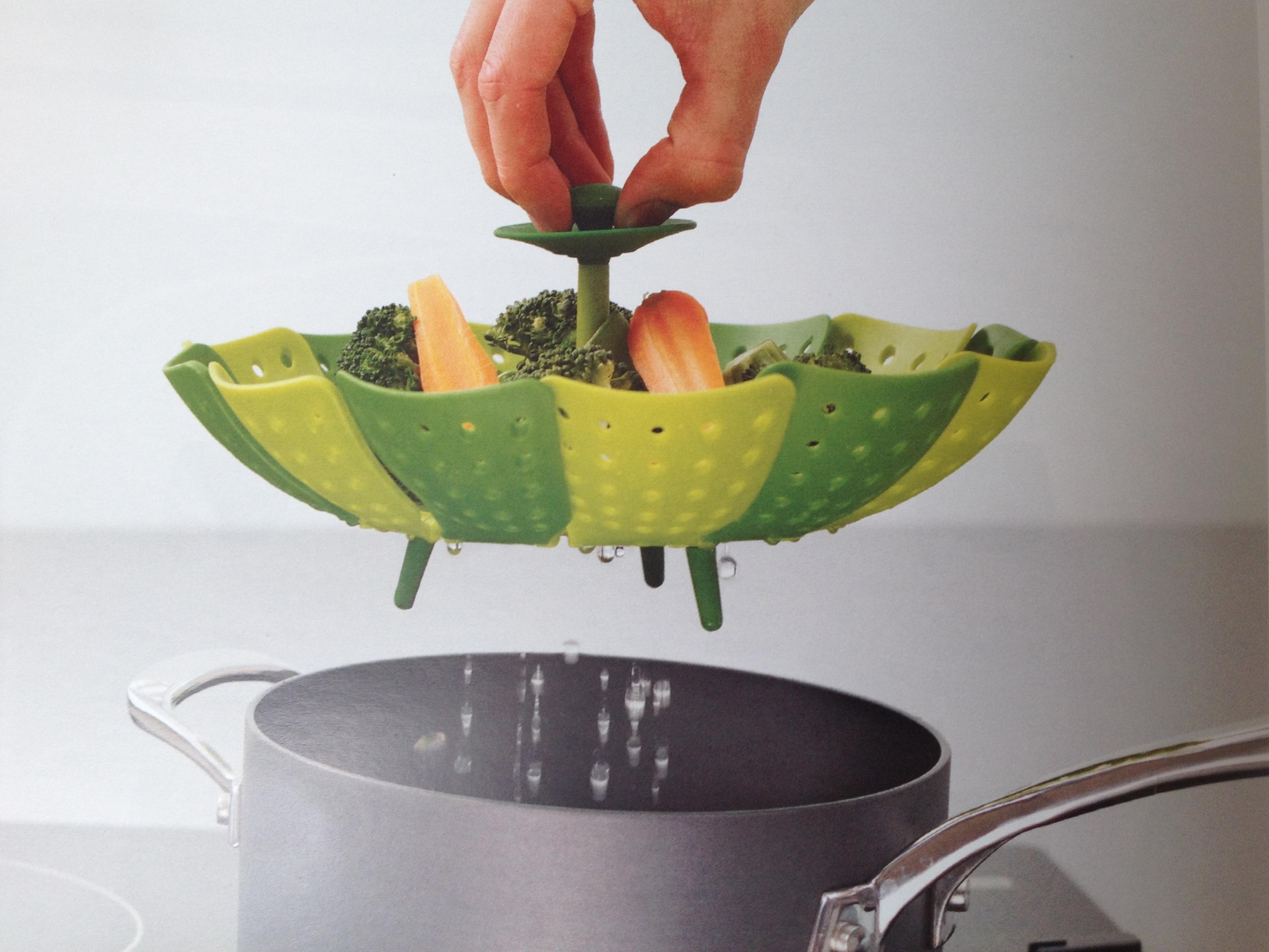 Párolt zöldség kiemelése