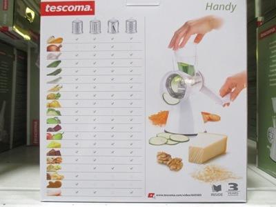 Tescoma 4 betétes reszelő készlet csomagolás