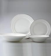 Silver kerek 19 darabos porcelán étkészlet