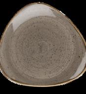 Grey háomszög lapos kerámia tányér