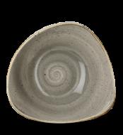 Grey háomszög mély kerámia tányér