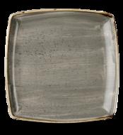 Grey négyszögletes lapos szögletes kerámia tál 2