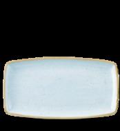 Duck Blue szögletes lapos kerámia tányér 35x19 cm