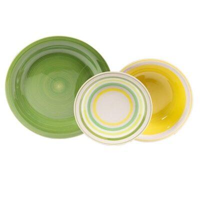 Kyklos verde 18 darabos kerámia étkészlet