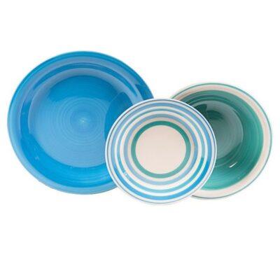 Kyklos blu 18 darabos kerámia étkészlet