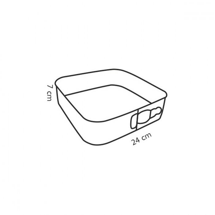 Delícia 24x24 cm-es kapcsos szögletes tortaforma-g1