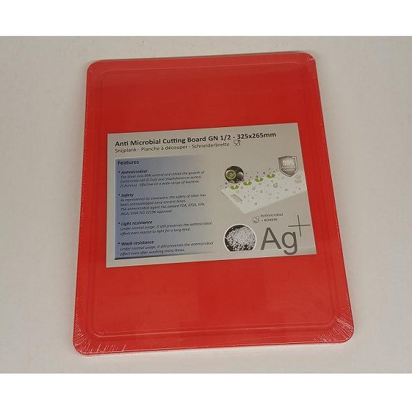 Cuisinex piros HDPE antimikro vágólap