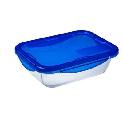 Cook and Go műanyag fedős téglalap sütőtál