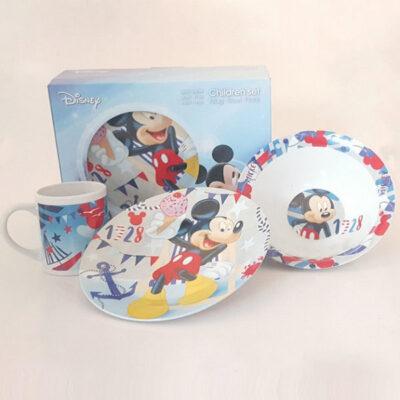 Disney Mickey 3 darabos gyermek étkészlet