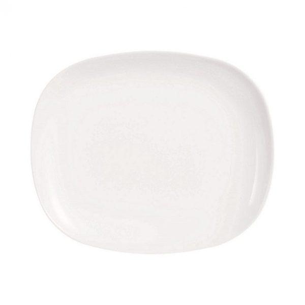 Evolutions White 28x23 cm-es hamburgeres tányér