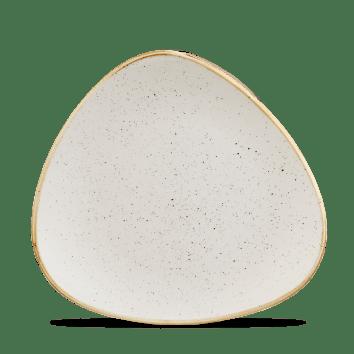 Barley White háromszög lapos kerámia tányér 22,9 cm