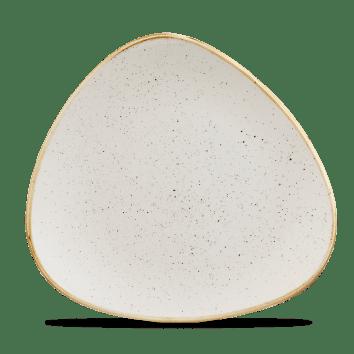 Barley White háromszög lapos kerámia tányér 26,5 cm