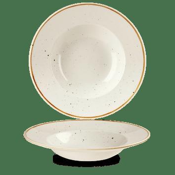 Barley White kerek peremes mély kerámia tányér 28 cm