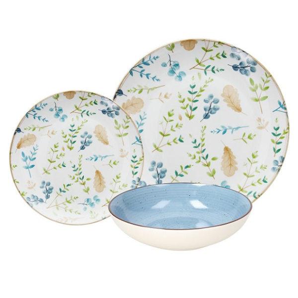 Gaia 18 darabos porcelán étkészlet