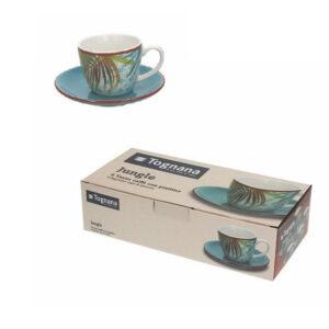 Jungle 6 darabos porcelán mokkás készlet