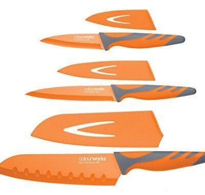 Kitchen Craft 3 darabos narancssárga késkészlet