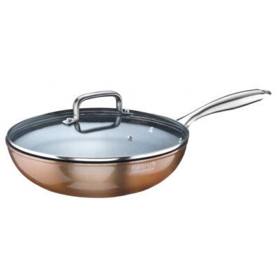 Materic 28 cm-es bevonatos wok serpenyő