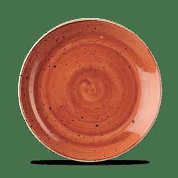 Orange lapos kerek desszertes kerámia tányér 21,7