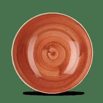 Orange mély kerámia tányér