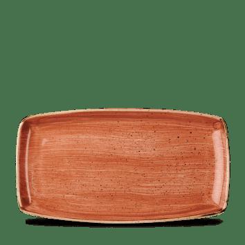 Orange szögletes lapos kerámia tál