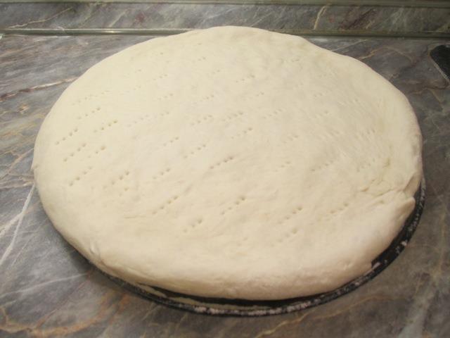Pizzatészta formázása
