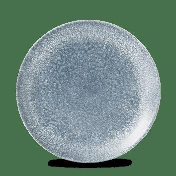 Raku Blue kerek lapos kerámia tányér 21,7 cm