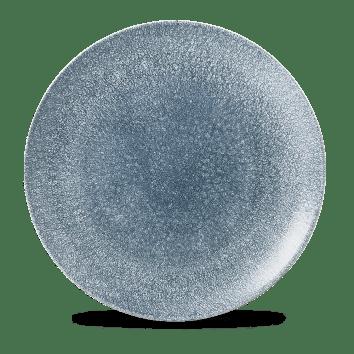 Raku Blue kerek lapos kerámia tányér 28,8 cm