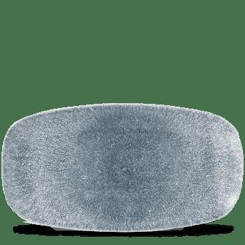 Raku Blue ovális lapos kerámia tál 35,5x18,9 cm