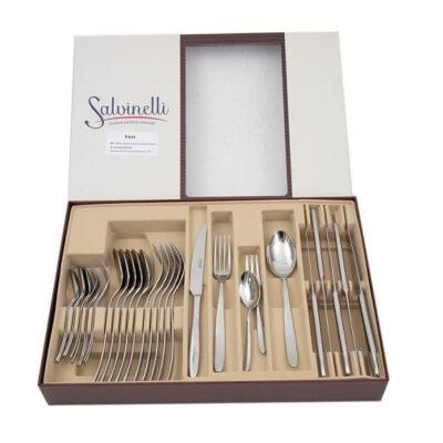 Salvinelli Fast 30 részes rozsdamentes evőeszköz készlet