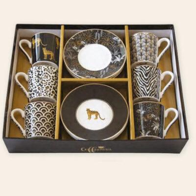 Savana 6 darabos 10 cl-es porcelán kávés készlet