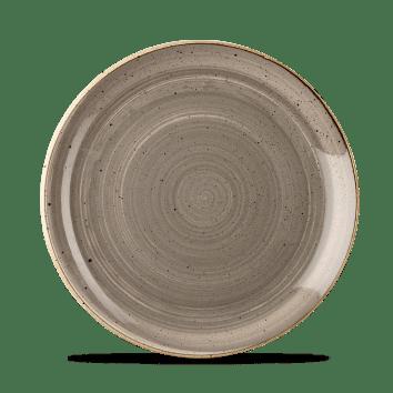 Grey kerek lapos desszertes tányér 21,7