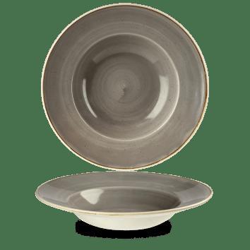 Grey peremes mély kerámia tányér
