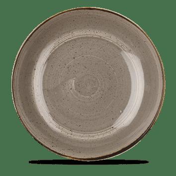 Grey mély kerámia tányér
