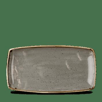 Grey szögletes lapos kerámia tál