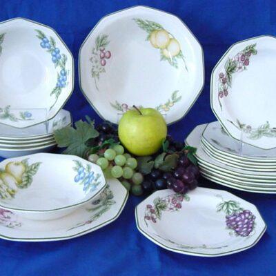 Victorian Orchard szögletes 19 darabos kerámia étkészlet
