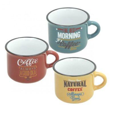 Vintage 10 cl-es színes kerámia kávés bögre