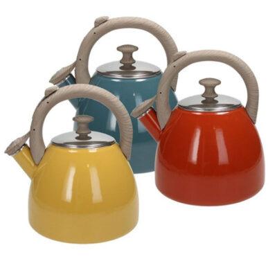 Vintage 2,5 literes színes indukciós rozsdamentes teafőző