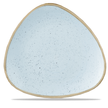 Duck Blue háromszög lapos kerámia tányér 31,1 cm
