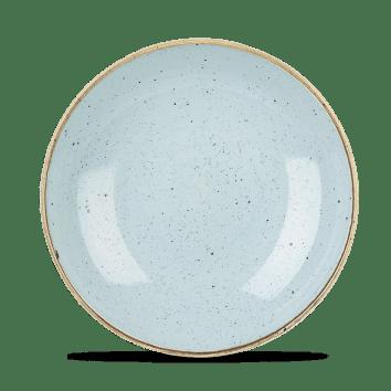 Duck Blue kerek lapos desszertes kerámia tányér 21,7 cm