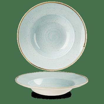 Duck Blue kerek peremes mély kerámia tányér 28 cm